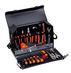 Наборы инструментов с контейнером, 32 Pieces tool set within a leather bag, Bahco, 982000320