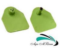 Ушная бирка для свиноматок и КРС, без номера,  4,5х5,0 см  зеленая (двойная)