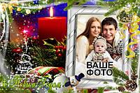 Новогодние открытки на магните с Вашим фото