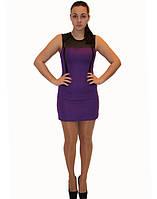 Платье Yiting №887 фиолет с вставками  Артикул: 136007
