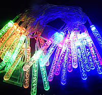 Гирлянда 28 LED 3д сосульки,елочки,звезда,цветы,шары в ассортименте