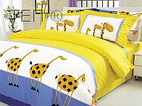 Двуспальный комплект постельного белья Жирафы