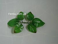 Искусственные листья розы, на 1 розетке 6 листочков (большие) , фото 1