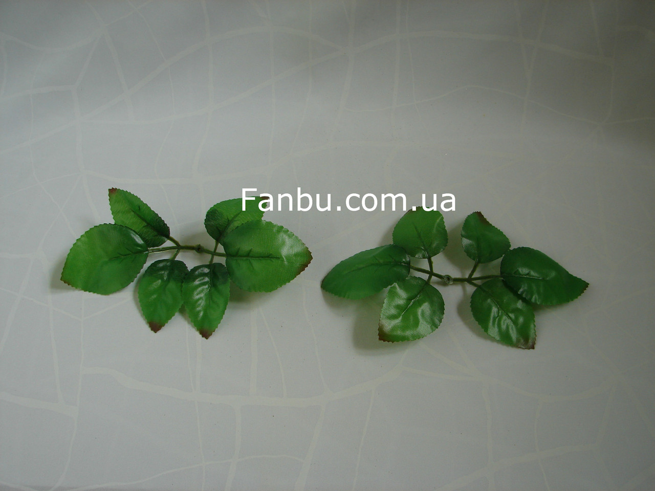 Искусственные листья розы(1 упаковка 50 шт), на 1 розетке 6 листочков (большие) , фото 1