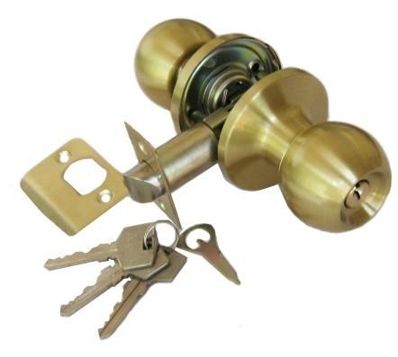 Ручка защелка Apecs 6072-01-GM с фиксацией+ключи (Матовое золото)