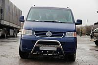 Volkswagen T5 Caravelle 2004-2010 гг. Кенгурятник WT003 (нерж) 60мм, с надписью