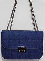 Клатч джинсовый темно-синий, фото 1