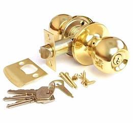 Ручка защелка Apecs 6072-01-G с фиксацией+ключи (Золото)