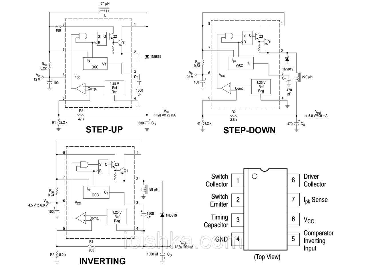 34063api Pdf Smps Buck Converter Using 34063 Ic Electronic Circuit Diagrams Sell