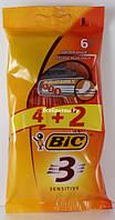 Одноразовый станок для бритья BIC 3 Sensetiv 4+2шт
