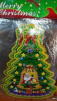 Наклейка Новогодняя на стекло  двухсторонняя 25х35см
