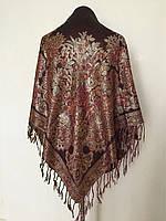 Теплый женский платок с люрексом