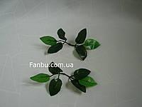 Искусственные листья розы,на 1 розетке 6 листочков-(маленькие№2,без красного)1 упаковка -50 шт