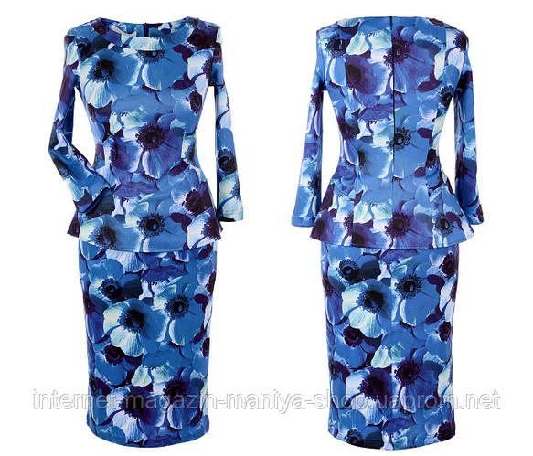 Платье женское цветы потайная молния