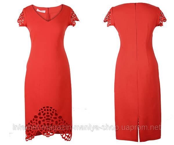 Платье женское перфорация потайная молния