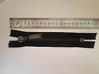 Молния металлическая Т-8 16 см чёрная (антик)