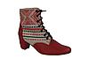 Обувь из льна. Этно-обувь, ботинки женские «Народные»