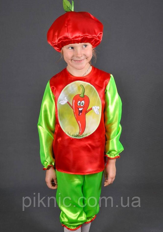 Детский карнавальный костюм Перец острый для детей 3,4,5,6 лет. Костюм овощи для мальчиков 340