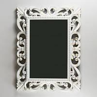Настенное зеркало (46х61 см) цвет белый