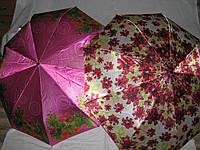 Женский зонт с цветочным принтом Сатин Антиветер автомат MR118
