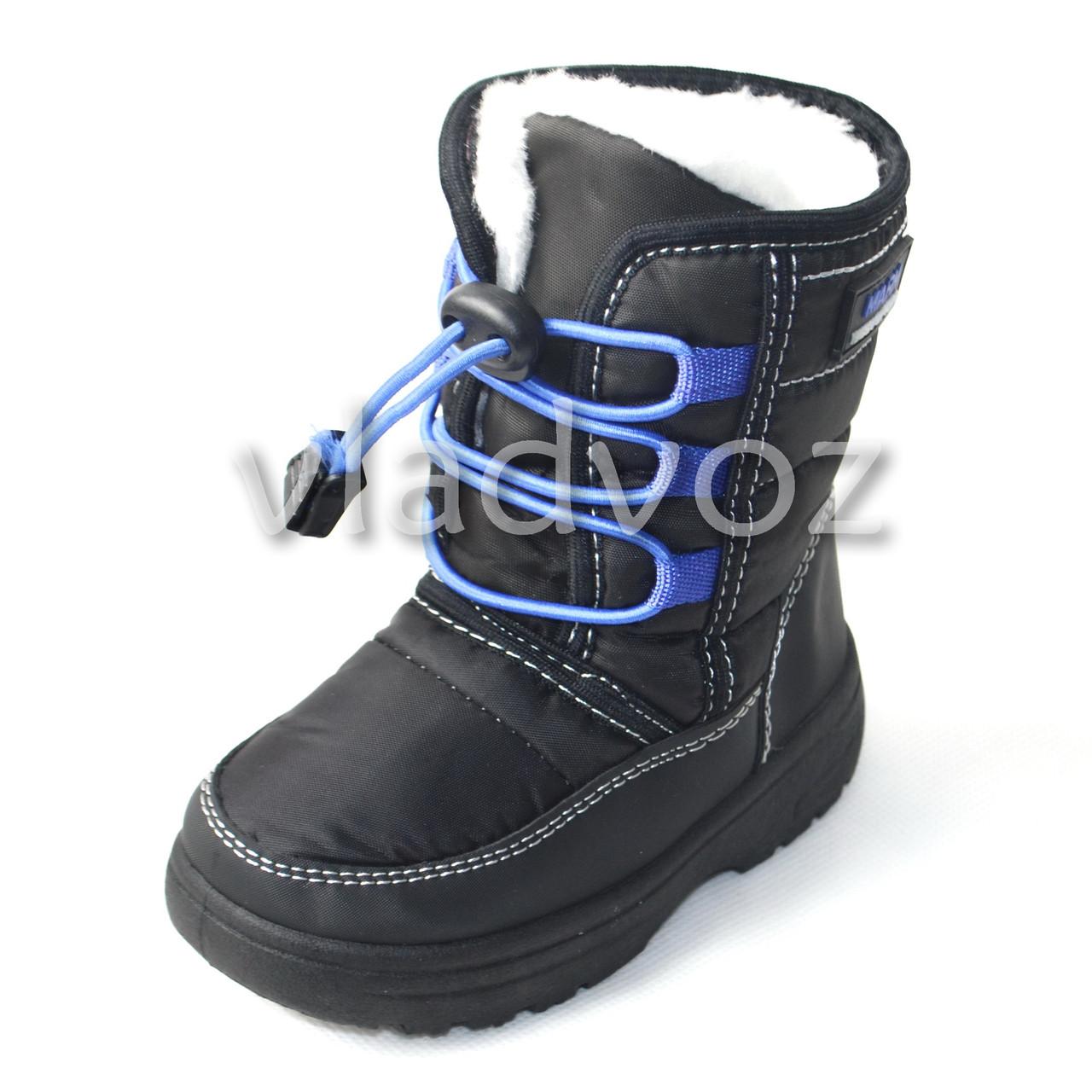 Зимние дутики сапоги для мальчика 24р. черные Jong Golf