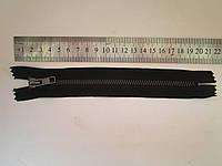 Молния металлическая Т-5 18 см чёрная (оксид)