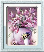 "Картина из страз ""Ваза с лилиями"" (алмазная мозаика)"