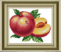 "Картина по номерам ""Персик"" (алмазная мозаика)"
