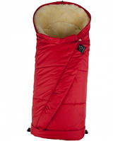 Тёплый конверт Kaiser SHEEPY со съёмной вставкой из овчины,  размеры  105 х 45 см ( цвет красный)