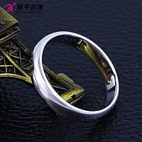 Кольцо обручальное 13725 размер 18, ширина 4 мм, позолота Белое Золото