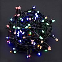 Уличная гирлянда светодиодная 100 ламп. 10 м. разноцветная