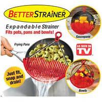 Дуршлаг-накладка для слива воды Better Strainer, фото 1