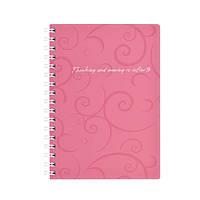 Блокнот BUROMAX А6 80 лист. на пружине пластик Barocco розовый 2589-610