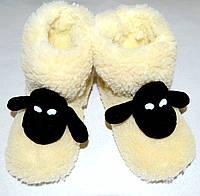 Чуни детские из овчины