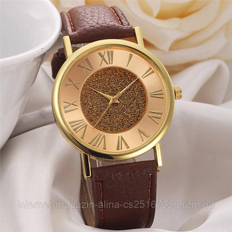 Наручные женские часы коричневые с золотом  продажа, цена в Киеве ... 8b9b189da90