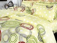 Сімейний комплект постільної білизни різнокольорові Круги