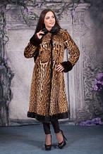 Оцелот норка шуба из оцелота размер М 44-46 норка пальто натуральный оцелот норка! Эксклюзив!!