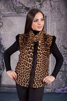 Жилет из леопарда,жилет из меха леопард,леопард натур., фото 1