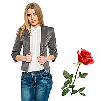 Короткий женский пиджак рукав три-четверти  L6998