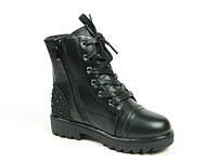 Зимние ботинки для девочек Clibee, комбинированная  кожа, размеры  27-30