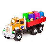 """Машинка """"Фарго"""" грузовик с бочонками 3685 БАМСІК"""