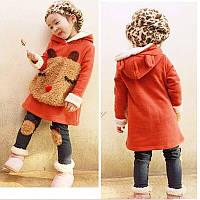 Флисовый комплект одежды для девочки, костюм, набор, р. 92-98 (2-3 года), теплый