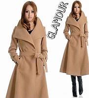 Женское бежевое пальто Зоя