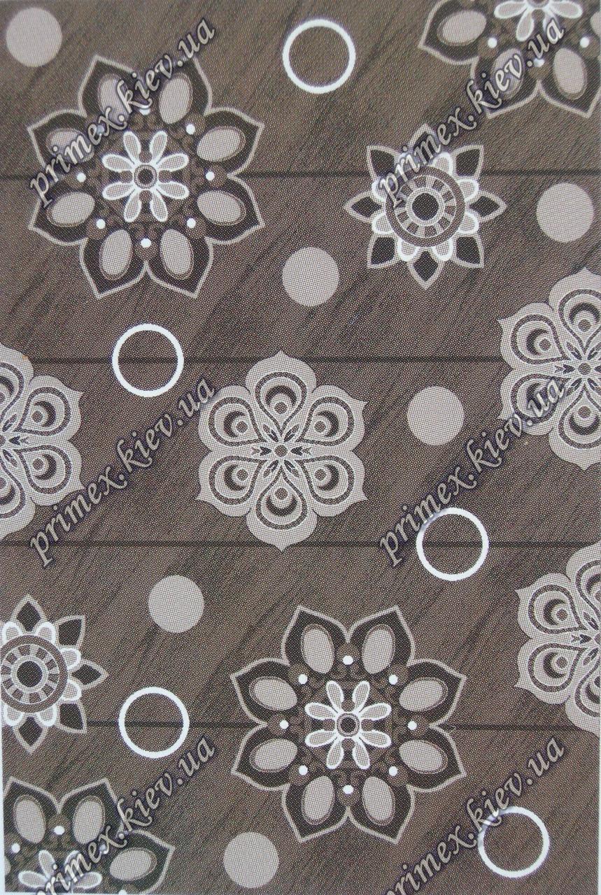 """Рельефный ковер, дорожка Берра """"Снежинки"""", цвет темно-коричневый"""