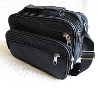 Мужская сумка Wallaby 2123 черная барсетка через плечо  24х16х13см