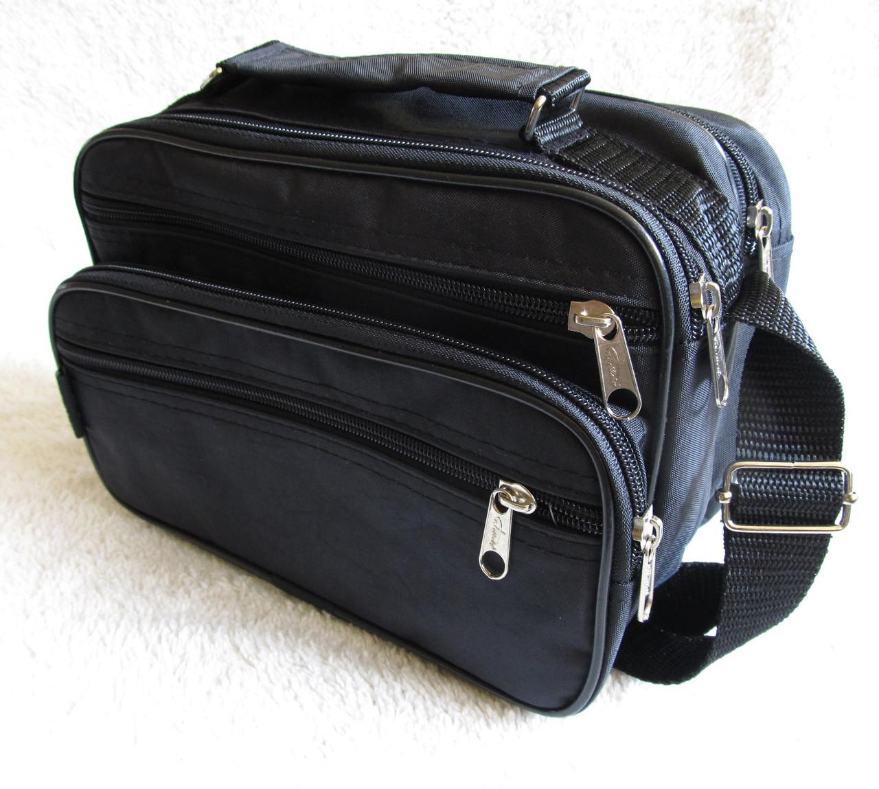 6c93bd5376fd Мужская сумка Wallaby 2123 черная барсетка через плечо 24х16х13см -  Интернет-магазин