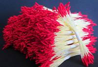 Тайские тычинки Красные Матовые Длинные 1 мм 25 шт/уп