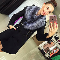 Женское демисезонное пальто на утепленном подкладе со съемным мехом Харьков. Различные цвета Размеры 42-50 АБ
