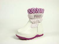 Детские зимние ботинки для девочек, искусственная кожа+болонь, размеры  24-27