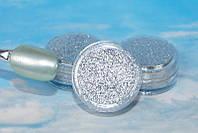 Пигмент металлик порошок серебро для декора ногтей
